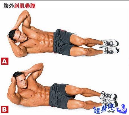 腹内外斜肌锻炼法