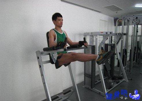 罗马椅抬腿:罗马椅抬腿锻炼腹直肌下部动作图解