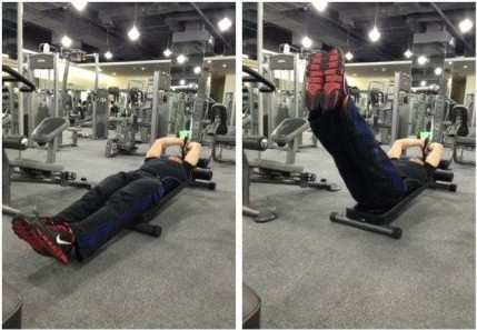 【仰卧举腿】主要锻炼腹肌下部,可以练出人鱼线