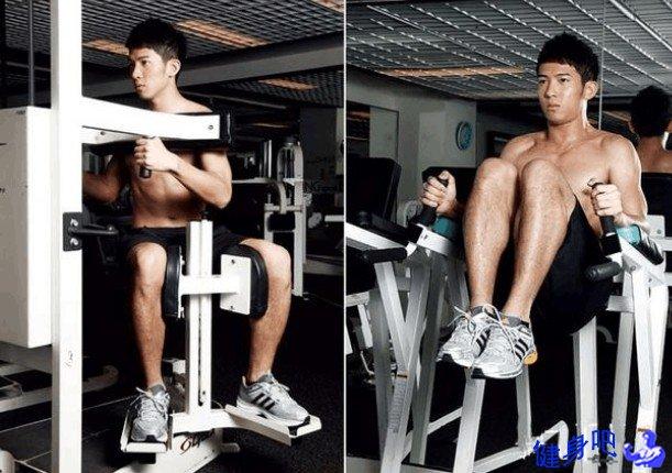 腰部旋转机和腹部训练机锻炼动作图解