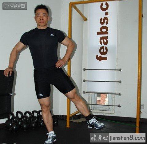 小腿三头肌_腿部肌肉锻炼方法大全:(弹力绳锻炼腿部)(2)_健身吧
