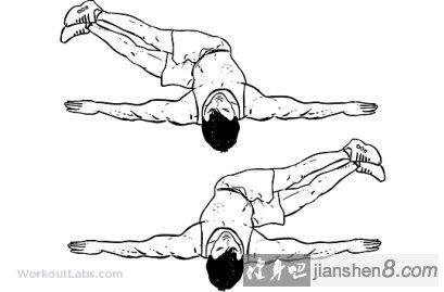 健身房拉力器锻炼方法图解简笔画
