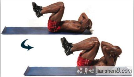腹肌锻炼方法——元宝收腹技术图解教程