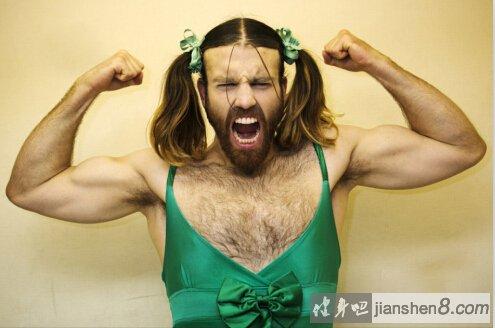 日本萝莉大叔胡须女,肌肉健壮满脸胡须