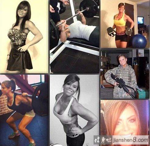 美国女大兵自拍大秀肌肉