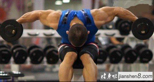 健身动作动态图解_俯身哑铃飞鸟 - 俯身飞鸟动作图解教程-健身吧