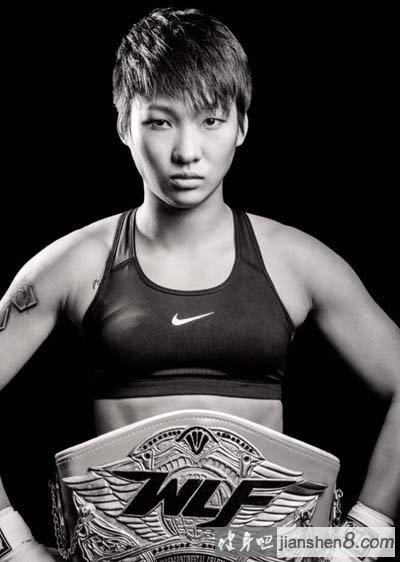 学霸变身肌肉猛_汪柯菡健身肌肉照,中国拳台女勇士(4)_健身吧